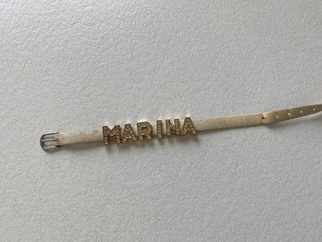 браслет с именными буквами МАРИНА