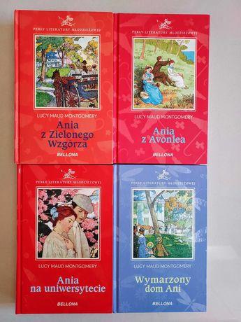 Montgomery: Ania z Zielonego Wzgórza, Ania z Avonlea, 4 tomy -BELLONA
