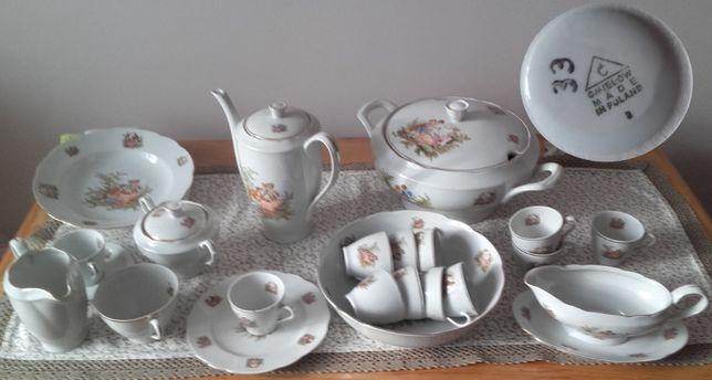 Serwis porcelanowy Ćmielów obiadowo-kawowy 12 osób