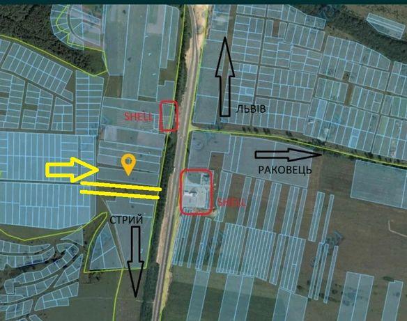 Земельна ділянка пл. 0,83 га біля с. Раковець (навпроти заїзду)