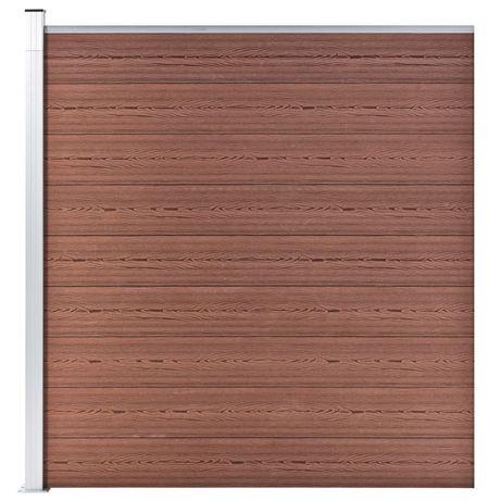 vidaXL Painel de vedação para jardim 180x186 cm WPC castanho 49068