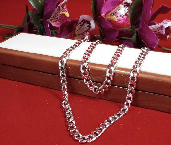 Wyjątkowy srebrny łańcuszek 46,42G