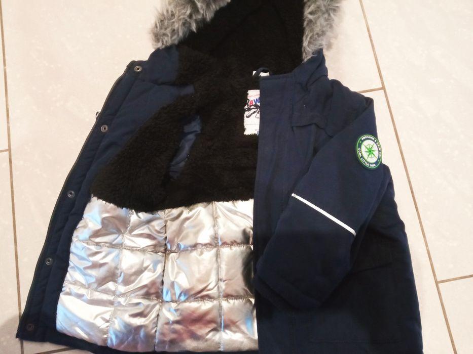 Zimowa ciepła kurtka dla chłopca 104 Czaplinek - image 1