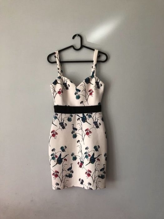 Biała letnia dopasowana sukienka obcisła Ząbki - image 1