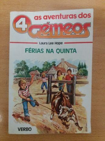 "Livro ""As aventuras dos 4 Gemeos"""
