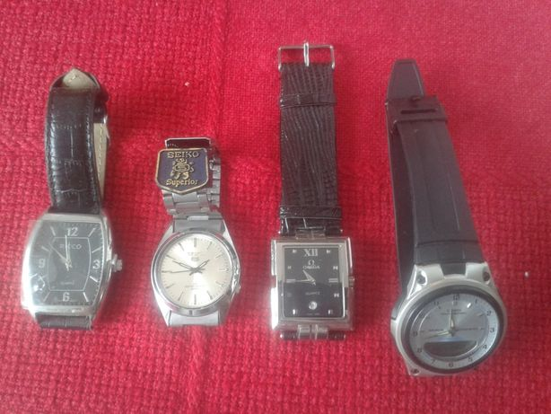 kolekcja zegarków Omega, Seiko, Rico, Casio iluminator
