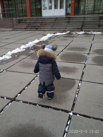 Зимняя парка LEBO JUNIOR 1,5-2,5г, +подарок.