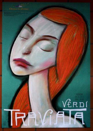 Plakat Traviata Verdi L. Żebrowski