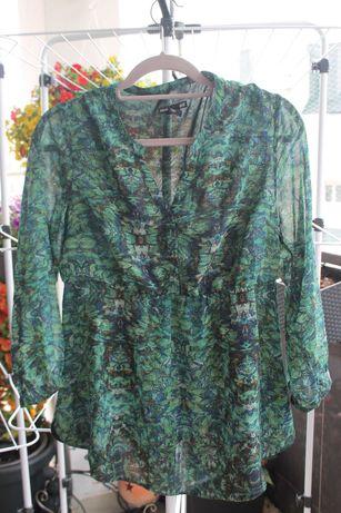 Bluzka ciążowa do karmienia H&M Mama r. 38 M zielona elegancka