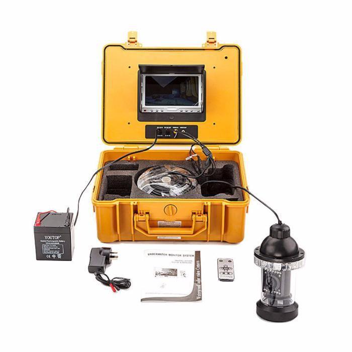 Sistema de monição de vídeo submarino com câmara CCD, controlo remoto