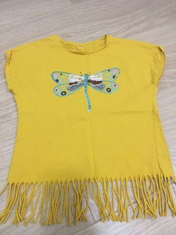 Koszulka bluzka dla dziewczynki 110/116 C&A
