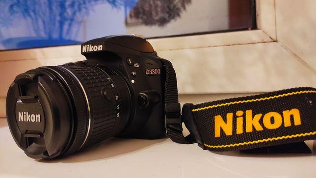 Aparat lustrzanka Nikon D3300 +statyw Hama