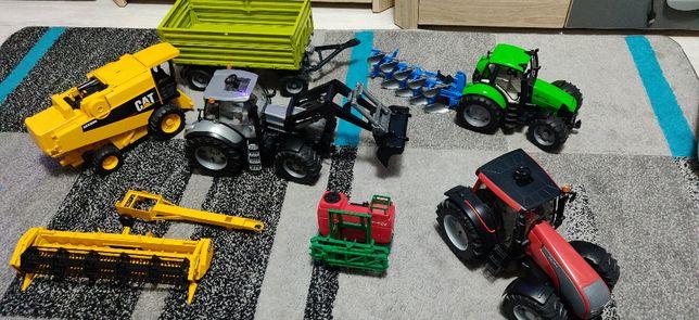 Mega zestaw traktorów + kombajn