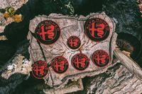 Kit de 7 Simbolos Logos em Alumínio Alfa Romeo Nº2| NOVOS
