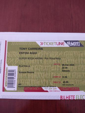 Vendo bilhete Tony Carreira
