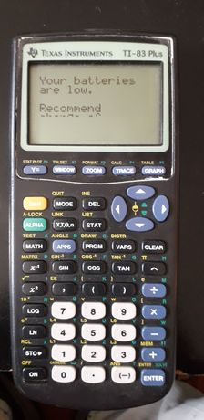 Calculadora grafica Texas TI-83 plus