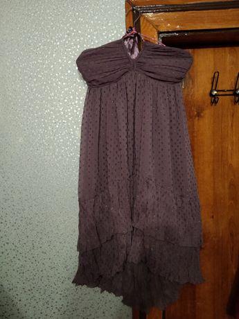 Платье-сарафан блестящее новое!