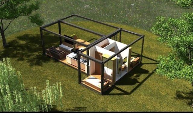 Domek modulowy z trzech modulow