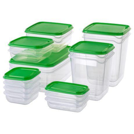Набор контейнеров, судочки 17 шт, икеа, ikea