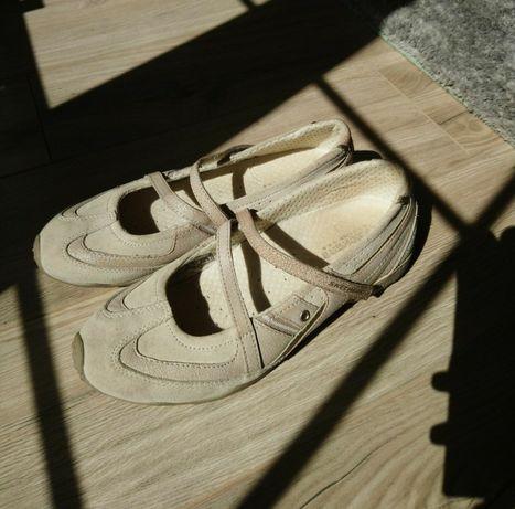 Skechers 39 baleriny półbuty balerinki buty sportowe zapinane na pasek