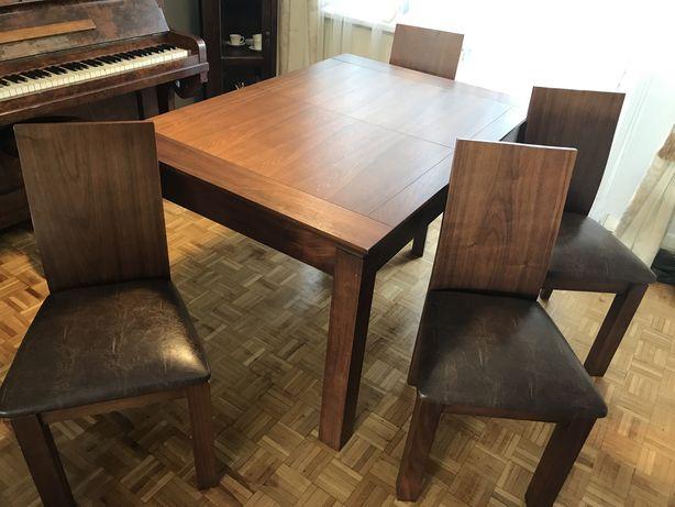 Zestaw stol krzesla komoda Ceglewski ala Almi Decor ZA DARMO krzesla!
