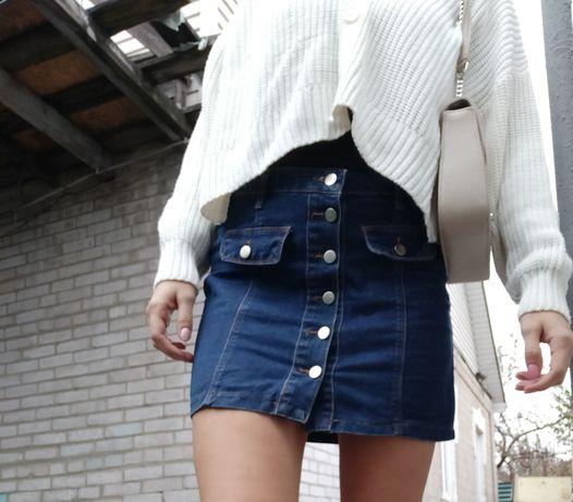 Юбка джинсовая/джинсовая юбка