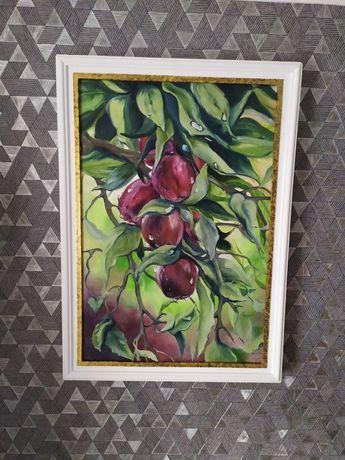 """Картина маслом """"Яблочки"""""""