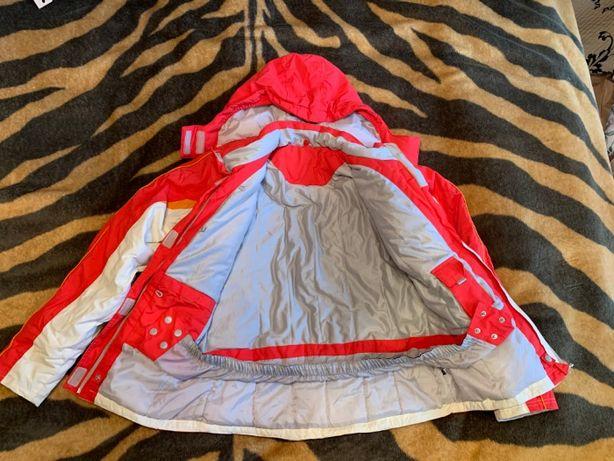 Kurtka narciarska damska biało czerwona 170-176