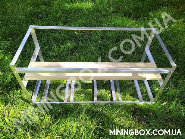 Каркас, риг 80x35x35 см, корпус для майнинг фермы для 5-6-7 видеокарт