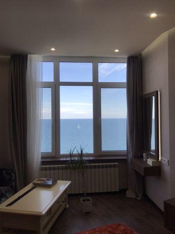 Продам квартиру, 2 комнаты, панорамный вид моря, новый ремонт, Аркадия