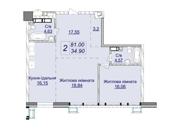 Драгомирова, продажа 2 ком Новопечерские Липки новый дом