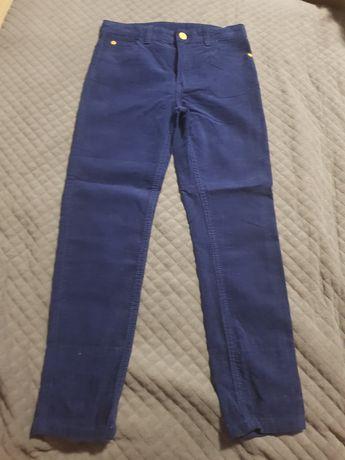 Spodnie nowe sztruks 134