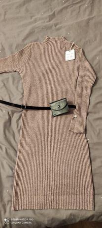 Rezerwacja Sukienka sweterkowa r. L/xl