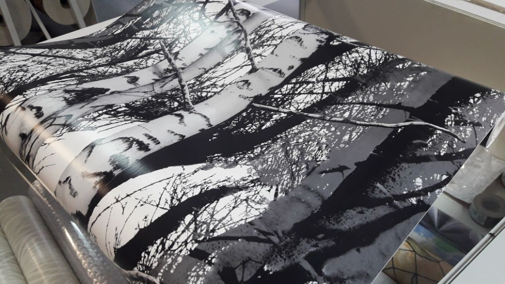 okleina meblowa foli samoprzylepna tapeta drzewa szer 45cm Łódź - image 1
