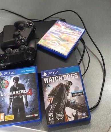PS4 1TB USADO (com jogos)