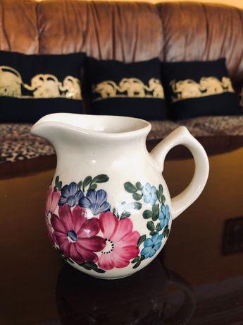 Dzbanek ceramiczny PRL ręcznie malowany