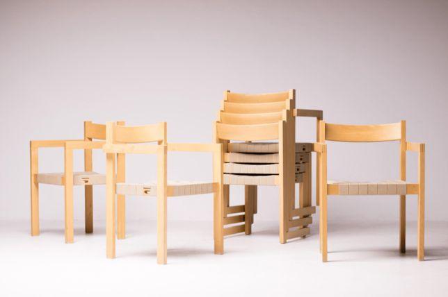 Cadeiras jantar de Hans Wegner - dinamarques nordico vintage