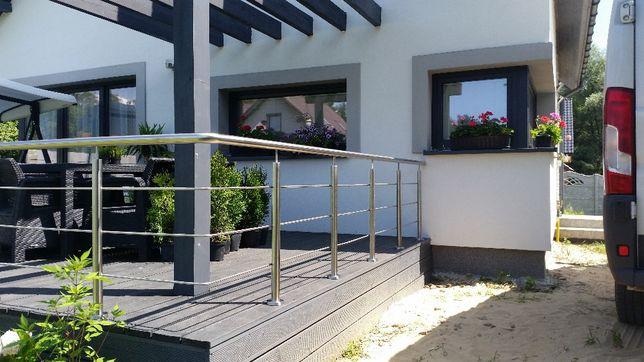 Balustrady balkonowe schodowe najtaniej 180 zł za jeden metr faktura