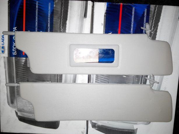 Козырьки противосолнечные жесткие с зеркалом ВАЗ 2121 21213 НИВА ТАЙГА