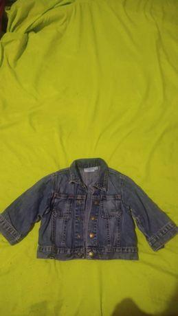 Джинсова курточка синя