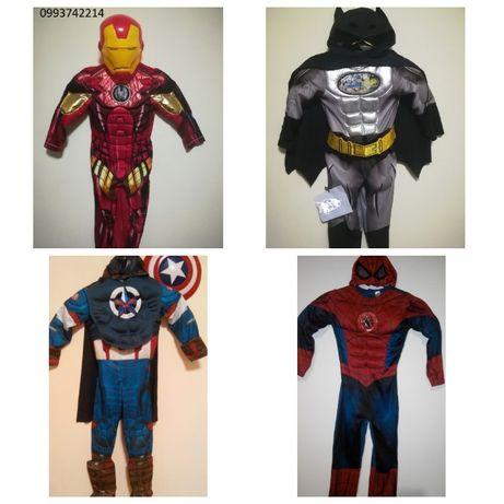 Костюм супергероя бетмен человек паук железный человек капитан америка