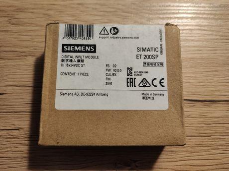 Moduł wejść cyfrowych Siemens PLC S7 ET200SP DI 16x 24V DC ST