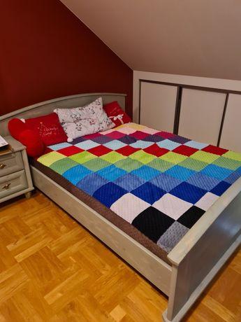 Łóżko 140 lub 160 x 200 zielona sosna BRW