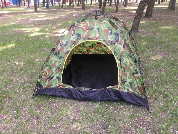 Туристическая палатка 4х местная Туристичний намет Камуфляж 200х200