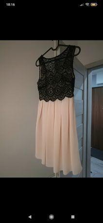 Sukienka czarno-beżowa