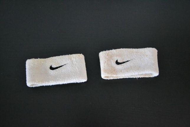 Punhos pulsos desportivos nike originais brancos