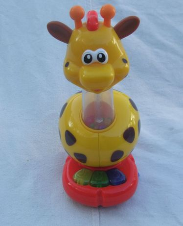 Детская развивающая игрушка жираф на присоске