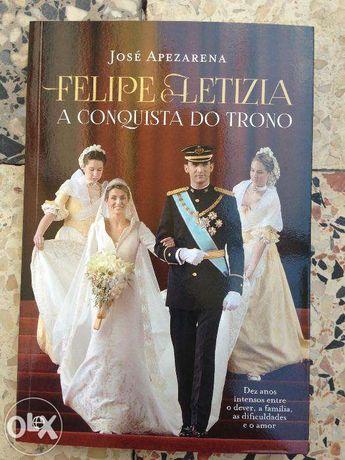 "TROCO Livro de História ""Felipe e Letizia"" de José Apezarena"