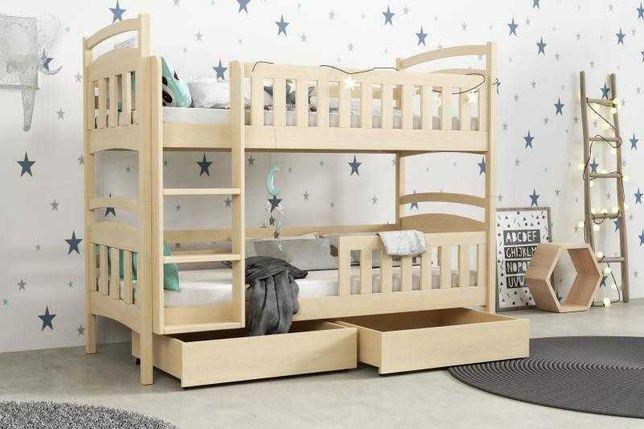 Nowe piętrowe łózko dla 2 dzieci WOJTEK 5! Materace w zestawie