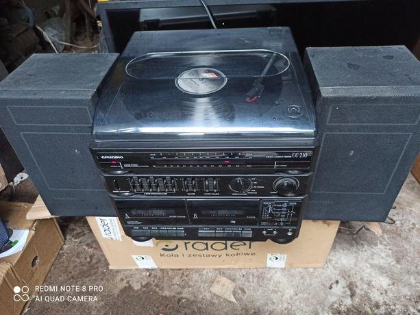 Wieza Grundig CC 210 gramofon sprawna